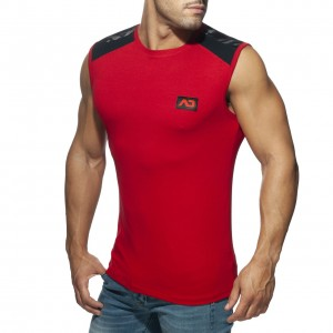 AD785 ARMY COMBI TANK TOP RED