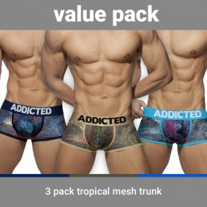 AD890P 3 PACK TROPICAL MESH TRUNK PUSH UP