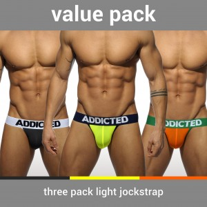 AD404P 3 PACK LIGHT JOCKSTRAP
