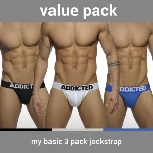 AD422P MY BASIC 3 PACK JOCKSTRAP